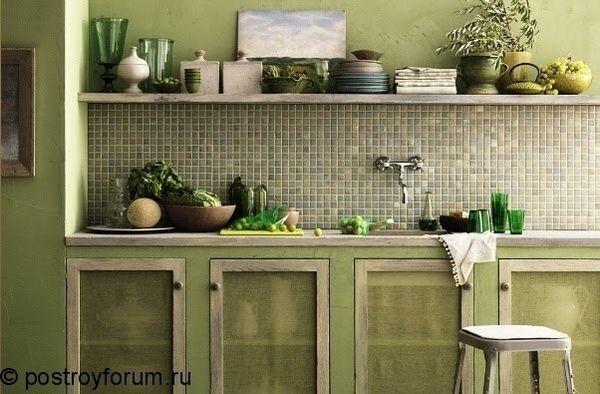 Оливкова кухня фото 1