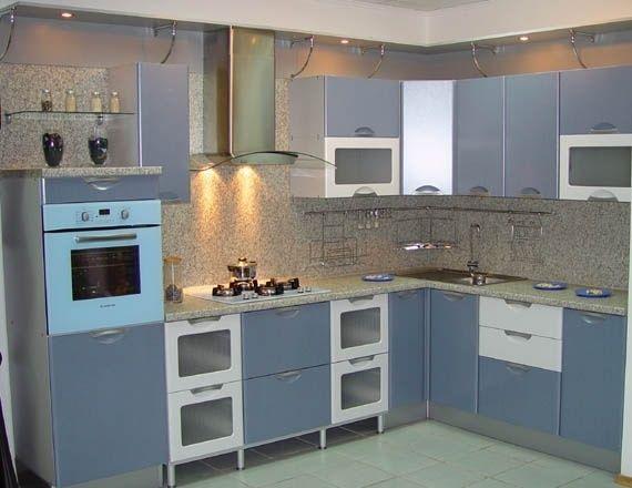 Блакитна кухня фото