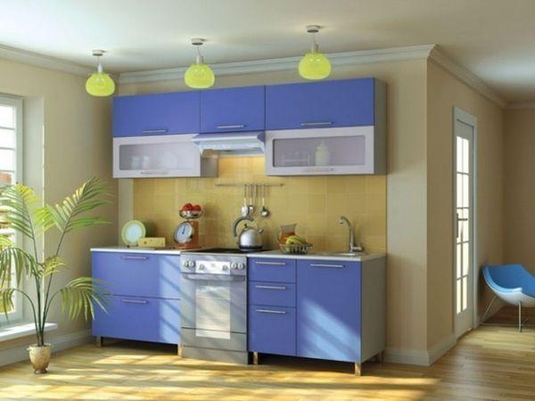 Жовто блакитна кухня фото