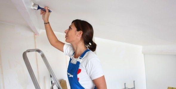Фарбуємо стелю своїми руками без розлучень і смуг, чи можна пофарбувати стелю на побілку