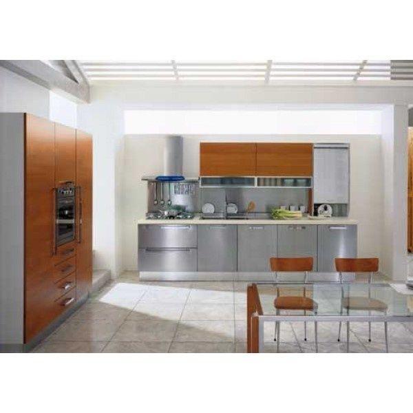 Сірий кухонний гарнітр