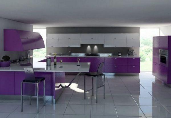 Стильний інтер`єр кухні в сірому кольорі