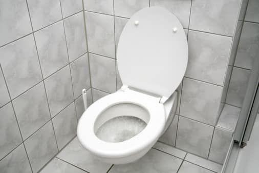 Оздоблення стін туалету кахель в туалеті