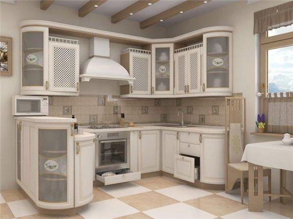 біла кухня в стилі хай-тек