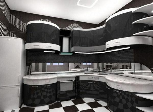 Чорна кухня фото