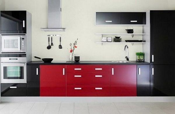 Червоно чорна кухня фото