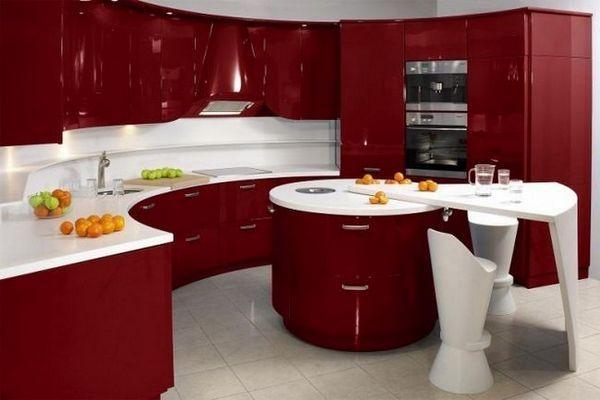 Червоний колір кухні картинка
