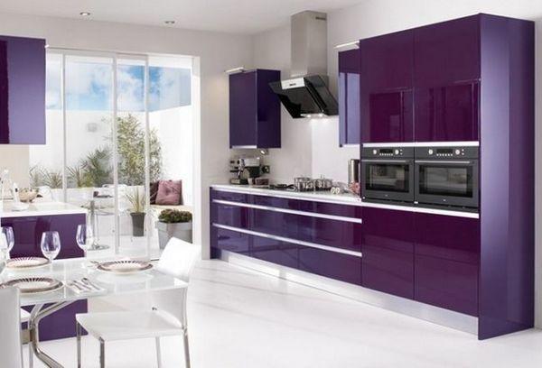 Фіолетова кухня фото