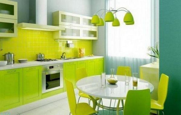 Кухня в зеленому кольорі
