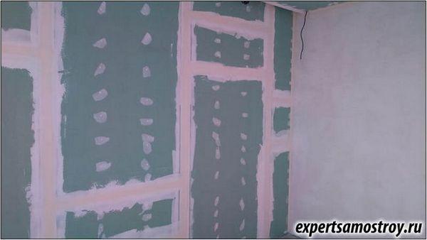 Шпаклівка стін з гіпсокартону