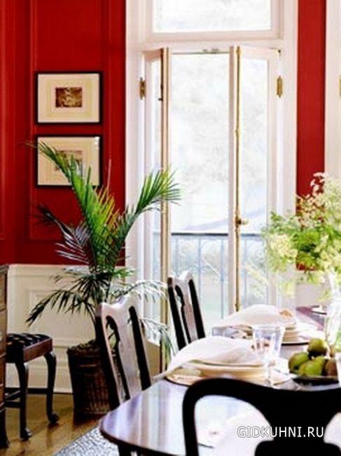 Сміливі кухні червоних квітів
