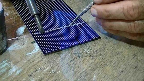 Пайка сонячних елементів
