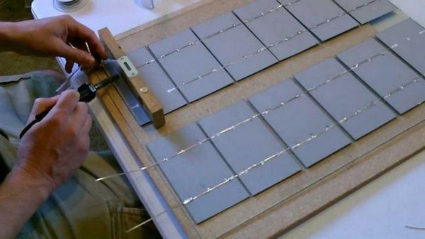 Пайка фотоелементів