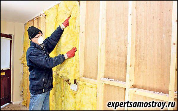 Утеплення дерев`яних стін