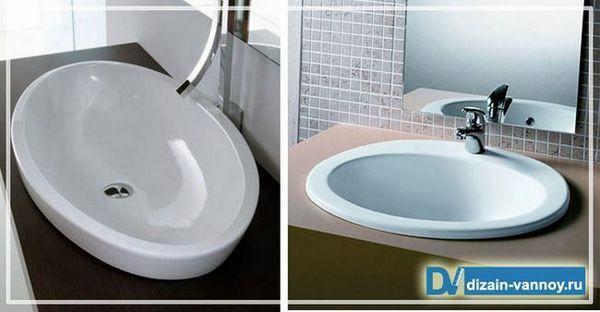 раковина вбудована для ванної