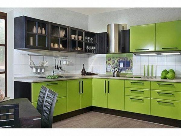зелений колір в інтер`єрі кухні
