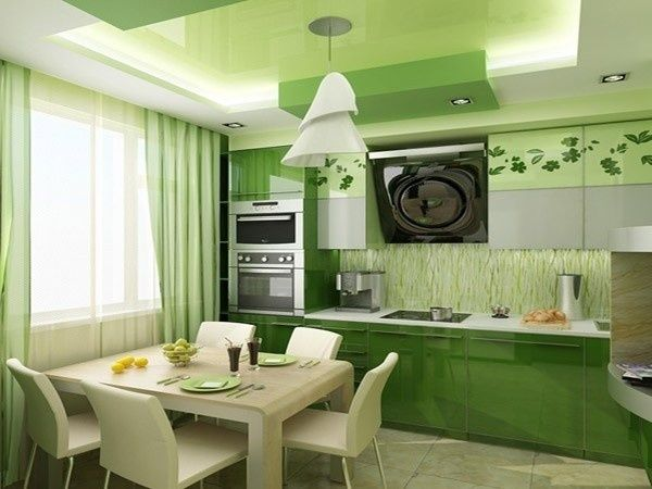 зелена кухня в інтер`єрі