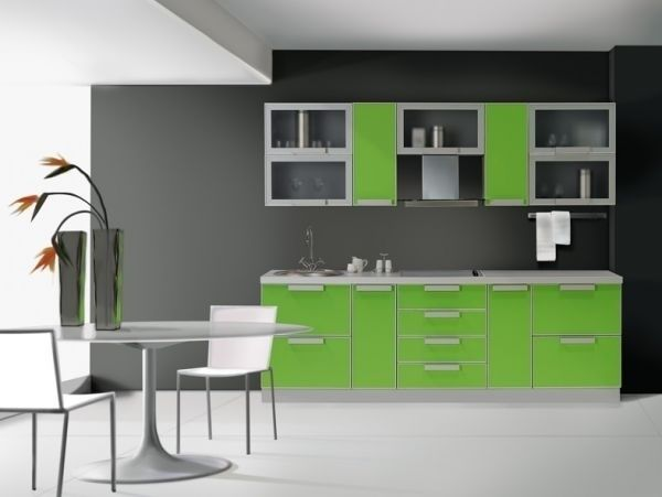 кухня в зеленому кольорі фото